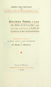 Cover of: Obres de Ramon Lull