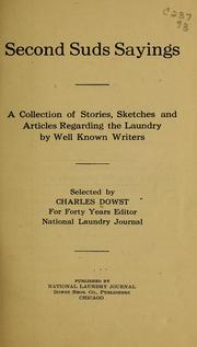 Cover of: Second suds sayings | Charles O. Dowst