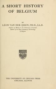 Cover of: A short history of Belgium