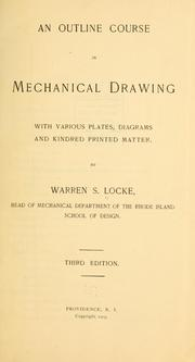 Cover of: An outline course in mechanical drawing