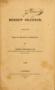 Cover of: A Hebrew grammar