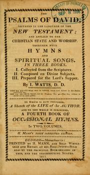 Cover of: The Psalms of David