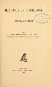 Cover of: Handbook of psychology