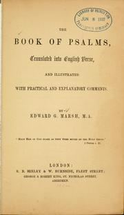 Cover of: The Book of Psalms, translated into English verse | Edward Garrard Marsh