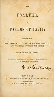 Cover of: The Psalter, or, Psalms of David