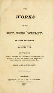Cover of: The Works of the Rev. John Wesley | John Wesley