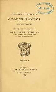 Cover of: The Poetical works of George Sandys
