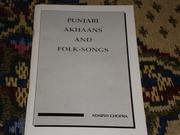 Cover of: PUNJABI AKHAANS AND FOLK - SONGS by ADARSH CHOPRA