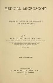 Cover of: Medical microscopy | Frank Joesph Wethered