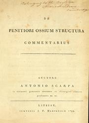 Cover of: De penitiori ossium structura commentarius