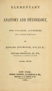Cover of: Elementary anatomy and physiology