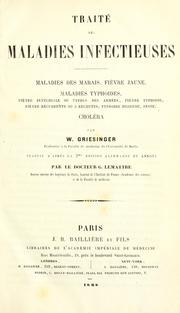 Cover of: Traité des maladies infectieuses