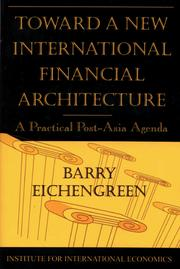 Cover of: Toward a New International Financial Architecture