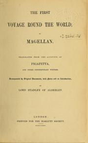 Cover of: The First voyage round the world, by Magellan | Antonio Pigafetta