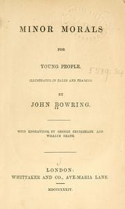 Cover of: Minor morals for young people | Bowring, John Sir