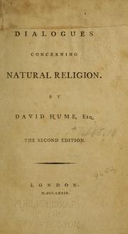 Cover of: Dialogues concerning natural religion