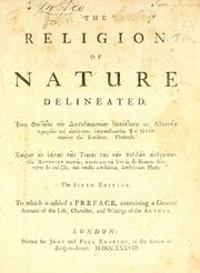 Cover of: The religion of nature delineated ...