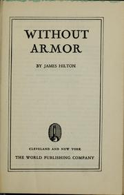 Cover of: Without armor