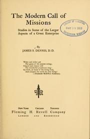 Cover of: The modern call of missions