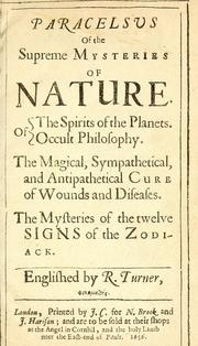 Cover of: Paracelsvs of the supreme mysteries of nature