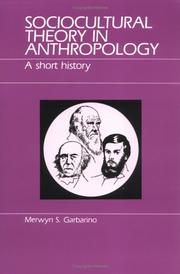 Cover of: Sociocultural theory in anthropology