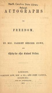 Cover of: Autographs for freedom