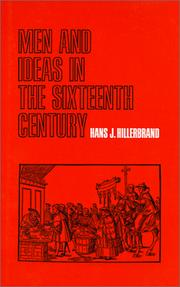 Cover of: Men and ideas in the sixteenth century