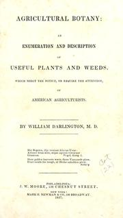 Cover of: Agricultural botany