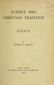 Cover of: Science and Christian tradition