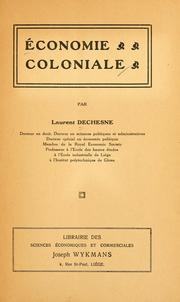 Cover of: Économie coloniale