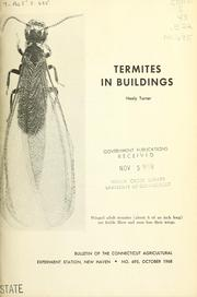 Cover of: Termites in buildings | Neely Turner