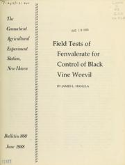 Cover of: Field tests of fenvalerate for control of black vine weevil | James L. Hanula