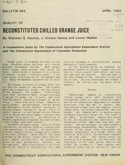 Cover of: Quality of reconstituted chilled orange juice | Sherman S. Squires