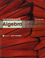 Cover of: Intermediate Algebra: concepts and applications.