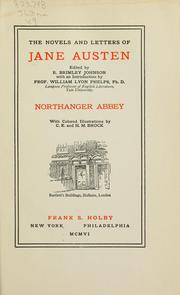 Cover of: The novels and letters of Jane Austen