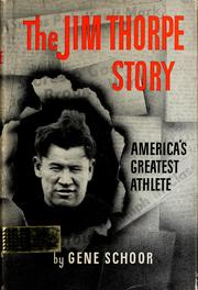 Cover of: The Jim Thorpe story, America's greatest athlete