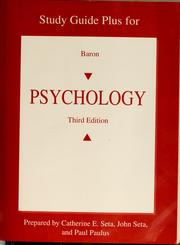 Cover of: Study guide plus for Baron, Psychology