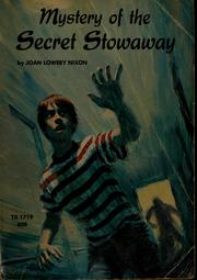 Cover of: Mystery of the secret stowaway