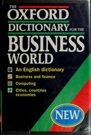 Cover of: The Oxford dictionary for the business world | Oxford University Press