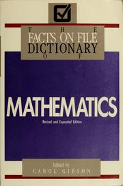 Cover of: Facts on file dictionary of mathematics | Carol Gibson