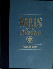 Cover of: Wills of the U.S. Presidents