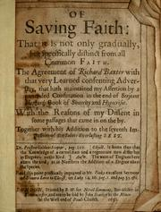 Cover of: Of saving faith