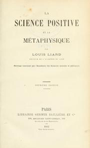 Cover of: La science positive et la métaphysique