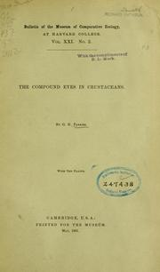 Cover of: The compound eyes in crustaceans