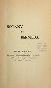 Cover of: Botany of Bermuda | H. Beaumont Small
