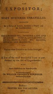 Cover of: The expositor by William Frederick Pinchbeck