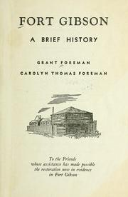 Cover of: Fort Gibson