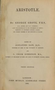 Cover of: Aristotle | George Grote