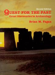 Cover of: Quest for the past: great discoveries in archaeology