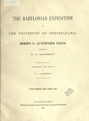 Cover of: The Babylonian Expedition of the University of Pennsylvania. Series A: Cuneiform texts by University of Pennsylvania